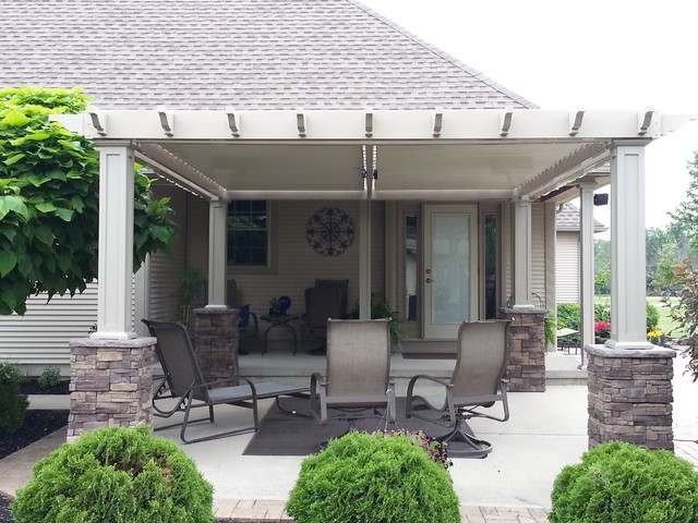 Louvered Roof - Traditional - Pergolas Arbors And Trellises - other metro - by Alt's Seamless ...