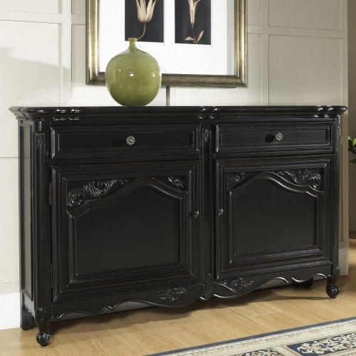 Pulaski Large Classic Black Hall Cabinet - Traditional - Side Tables And End Tables - by Hayneedle