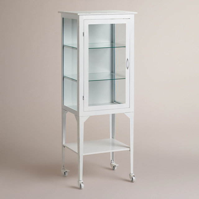Large White Giselle Cabinet Traditional Bathroom Cabinets And Shelves By Cost Plus World