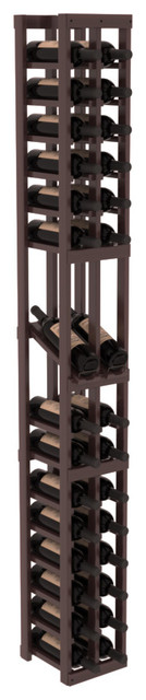 2 Column Display Row Wine Cellar Kit in Redwood, Walnut + Satin Finish contemporary-wine-racks
