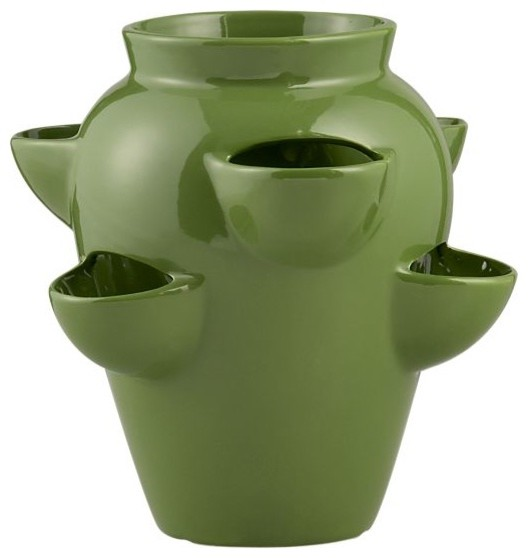 Strawberry Pot Mediterranean Outdoor Pots And Planters By CrateampBarrel