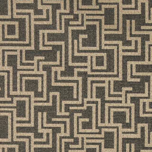 Black And Brown Geometric Outdoor Indoor Marine Upholstery
