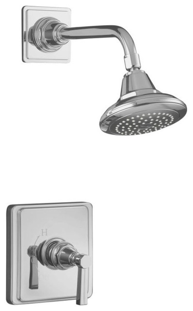 KOHLER K-T13134-4B-CP Pinstripe Shower Faucet Trim with Lever Handle in Polished traditional showers