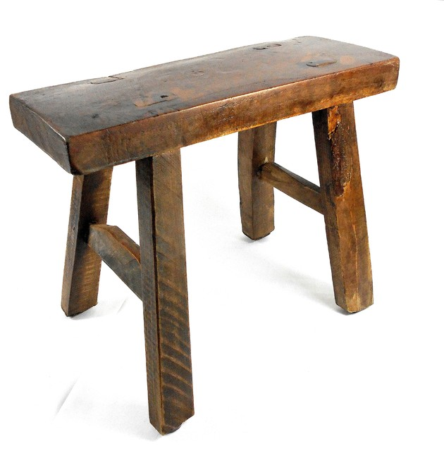 Tiny Primitive Wooden Stool - Home Decor rustic-accent-and ...