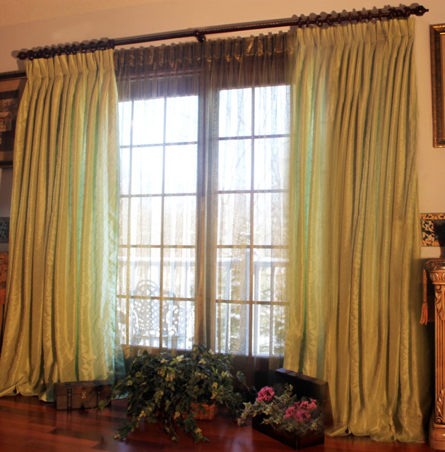 Olive green curtains sheers the image for Green modern curtains
