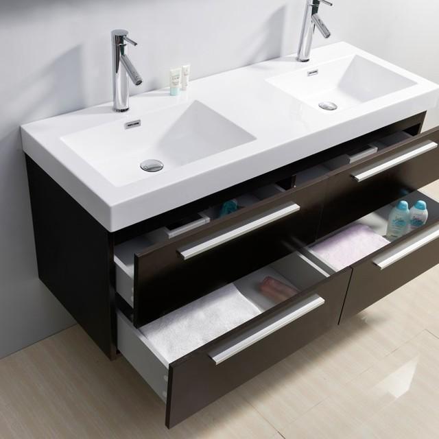 Double Sink Wenge Bathroom Vanity Contemporary Los Angeles By Vanities For Bathrooms