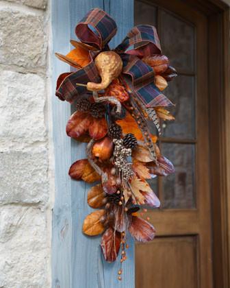 Autumn Door Spray traditional-holiday-decorations