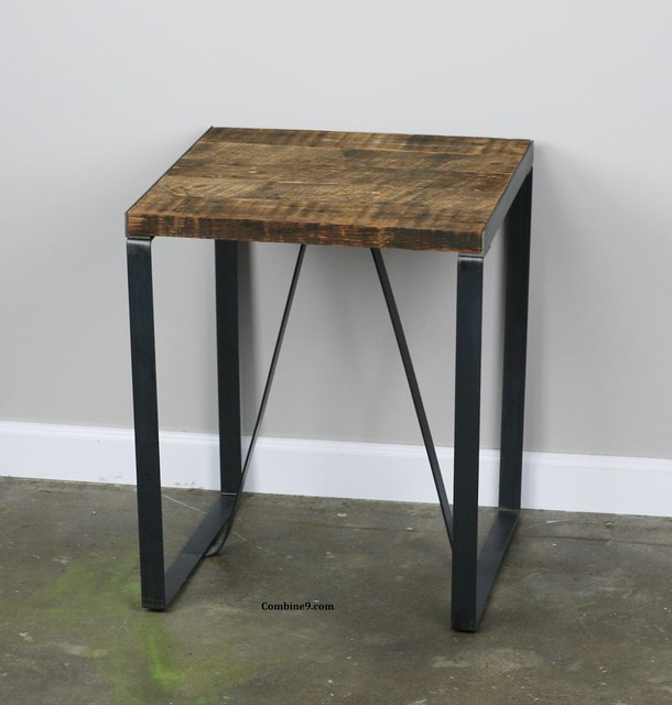 End Table/Night Stand. Historic Wood. Vintage Industrial/distressed design. rustic