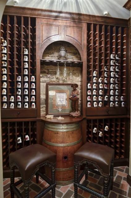 Atlanta Basement traditional-wine-cellar