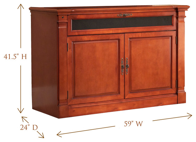 """Adonzo TV Lift Cabinet For Flat Screen TV's Up To 55"""" traditional-home ..."""
