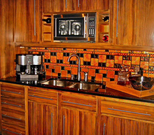 zebra wood cabinets kitchen faux zebra wood cabinets