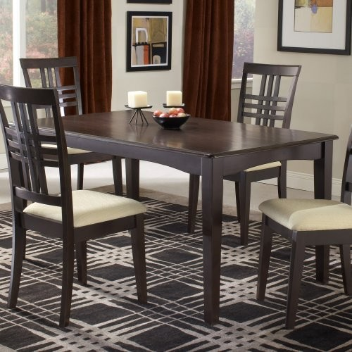 Hillsdale Tiburon 36 x 60 Fix Top Dining Table - Espresso contemporary-dining-tables