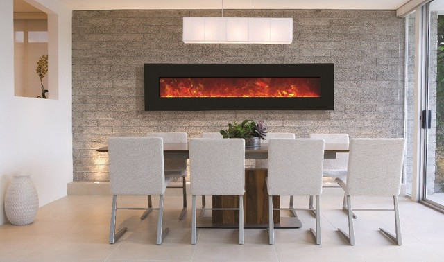 Amantii Wall Mount Or Built In Electric Fireplace 76 Contemporary Indoor Fireplaces