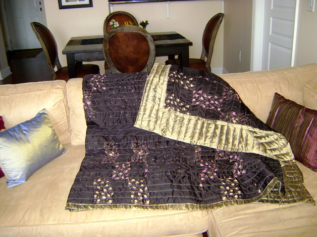 Vintage Sari Throw asian throws