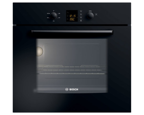 "Bosch 30"" 300 Series Single Wall Oven, Black 