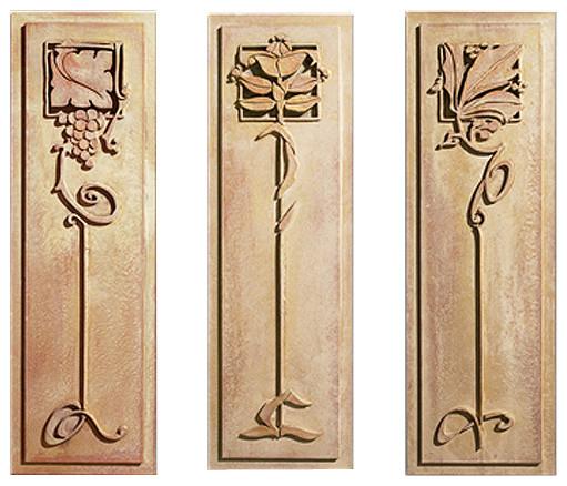 Art Deco Wall Panels: Art Deco Panels (3 Pieces) Craftsman-wall-panels