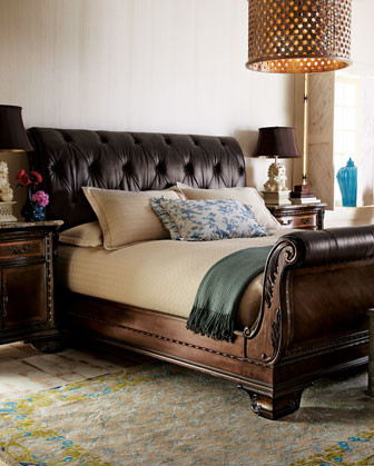 Alexander Sleigh Bed traditional-beds
