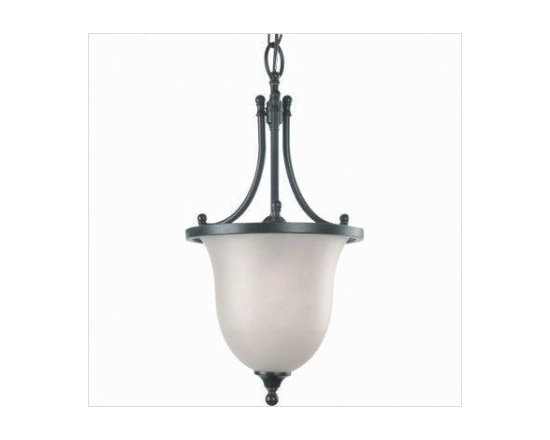 """Royce Lighting - Royce Lighting Valhalla Collection One Light Chandelier with Bronze Finish - These fixtures are decorative enough for a rustic countryside setting or a sophisticated metropolitan home. -Cream Snow Globe -36""""-inch Chain or Rod length"""