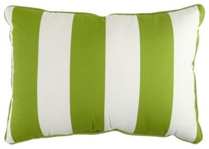 Cabana Stripe Lumbar Pillow, Citrus modern-outdoor-cushions-and-pillows