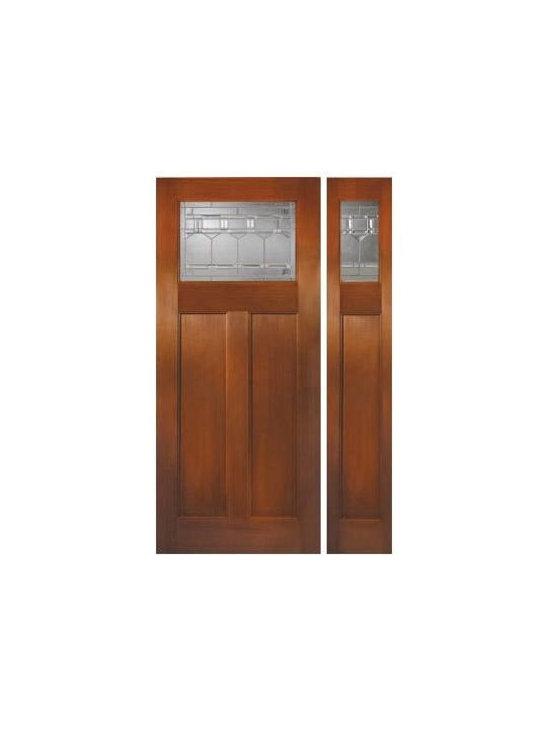 Fir Grain  Fiberglass Door - FIR GRAIN SERIES 6/8: DIRECT GLAZED CRAFTSMAN: ARTESANO BREEZE: Zinc ---(Also Available in FIR GRAIN SERIES 8/0)