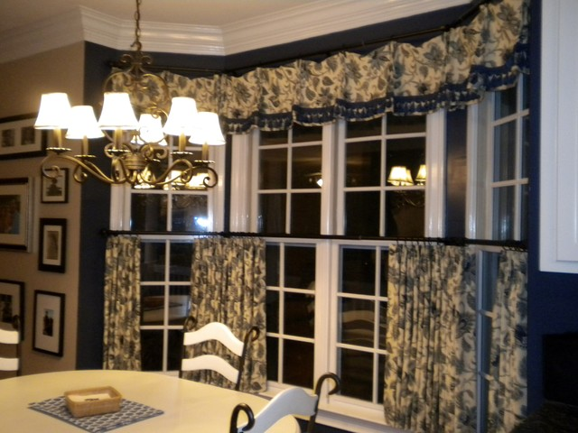 country french breakfast room window treatments