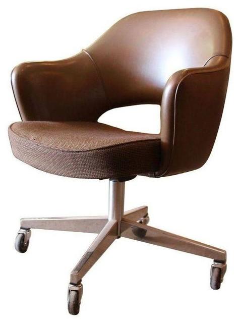 Pre owned original knoll saarinen executive arm chair midcentury office chairs - Saarinen chair knock off ...
