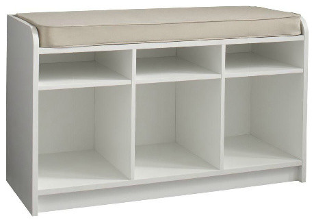 Martha Stewart Living Cubbie-Storage Bench With Seat contemporary storage and organization