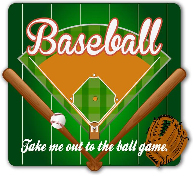 Alumapic Baseball Theme Wall Decor Original Artwork