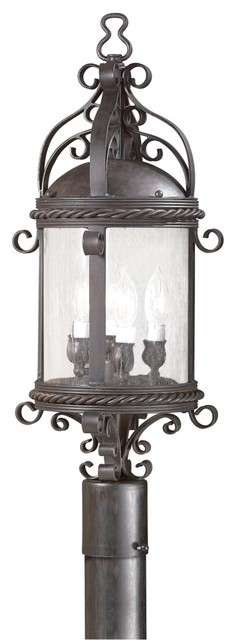 "Pamplona Collection 26 5/8"" High Outdoor Post Light traditional-post-lanterns"