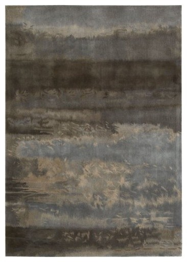 Nourison Calvin Klein Home Luster Washed Chrome Wash Area Rug modern-rugs