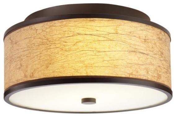 Corona 17 Maduro Paper Round Flush Mount modern-ceiling-lighting