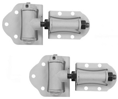 Veranda Gate Hinges: Heavy Duty Self-Closing White Vinyl Gate Hinge 73002216 - Contemporary ...