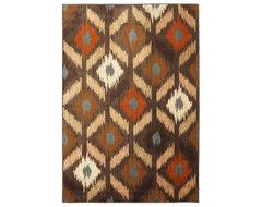 Mohawk Aria 9144 Brown 8' x 10' Area Rugs modern-rugs