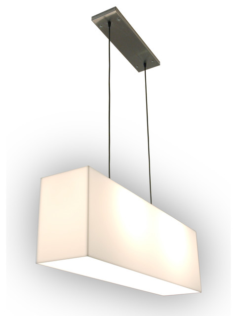 Vanity Hanging Lights : Gus White Hanging Acrylic Lamp - Modern - Bathroom Vanity Lighting - los angeles - by Viesso