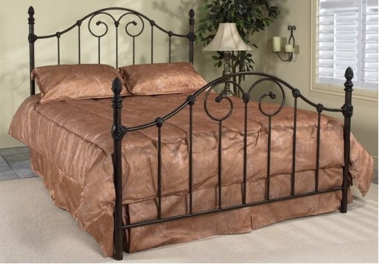 Vanessa Queen Antique Brown Wrought Iron Bed Frame Traditional