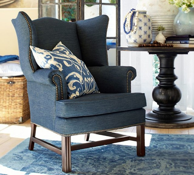 Thatcher Upholstered Wingback Chair Recycled Cotton