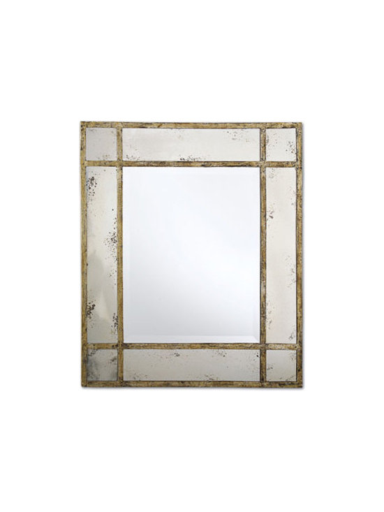 Paris Mansion Antiqued Gold Wall Mirror by Two's Company® -