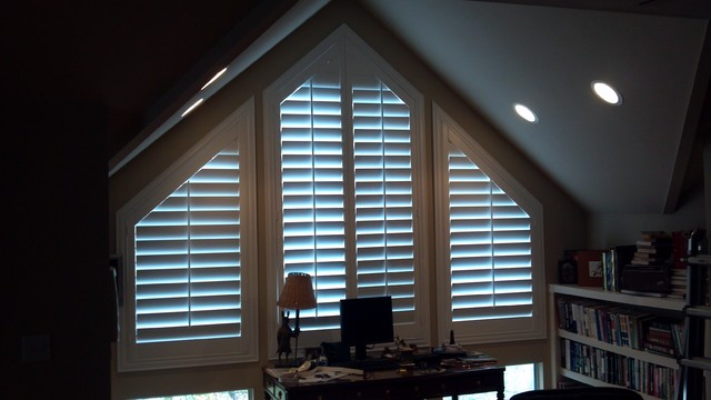 Home Office traditional-window-treatments