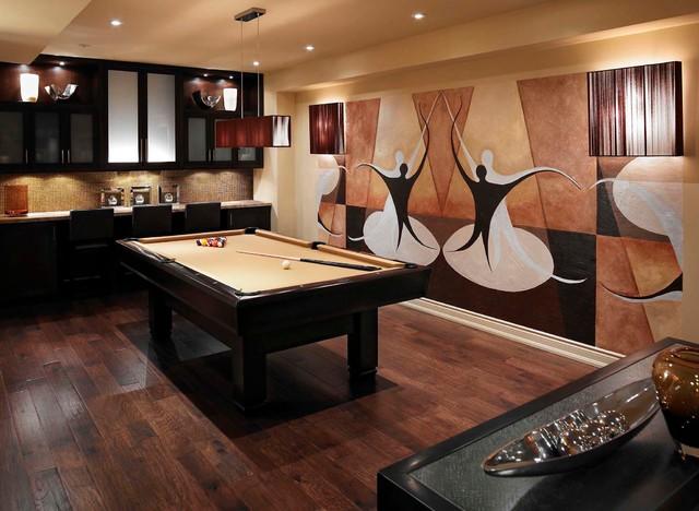 Regina Sturrock Design Inc. The Art Of Entertaining eclectic-basement