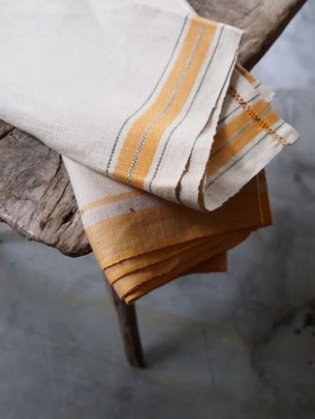 Yellow Stripe Tea Towels traditional dishtowels