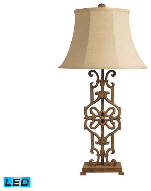 Dimond Lighting Iron Relic Table Lamp in Albion Bronze - LED Offering Up To 800 traditional-table-lamps