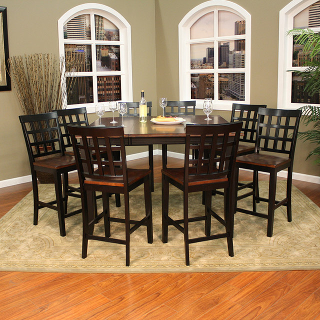 Pennie 9-piece Butterfly Leaf Counter-height Dining Set - Contemporary ...