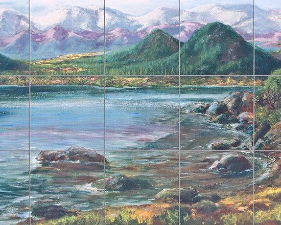 Free Standing Outdoor Art Tile Murals -