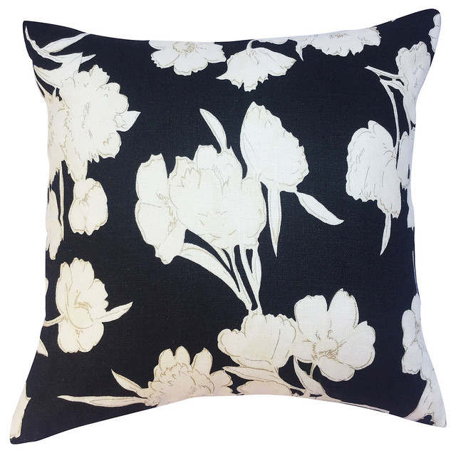 Ralph Lauren Decorative Couch Pillows : Ralph Lauren Floral Linen Pillow - Contemporary - Decorative Pillows