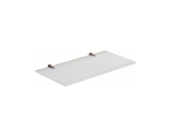 """12 Inch Ultra Glass Bathroom Shelf - Add this beautiful contemporary bathroom shelf to your bathroom. This shelf is made of frosted glass and cromall. Perfect for modern bathrooms. Dimensions: 11.8"""" x 6.5"""" x .8"""""""