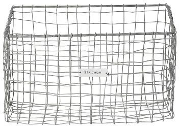 Wire Storage Basket contemporary-baskets