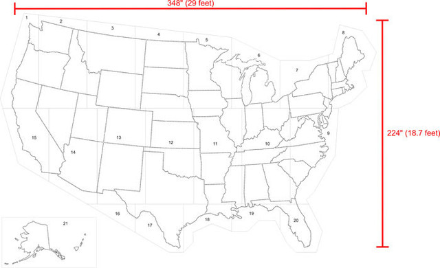 Stencil United States Pictures To Pin On Pinterest ThePinsta - Large us map stencil