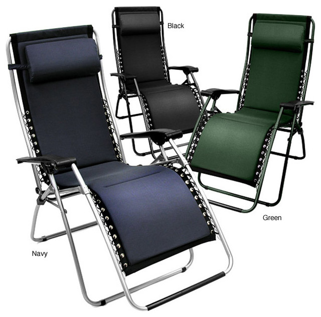Foam padded zero gravity outdoor folding recliner for Chaise zero gravite