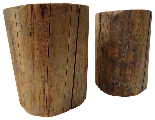 12 Inch Accent Table Of 12 Inch Diameter Stump Table Rustic Side Tables And