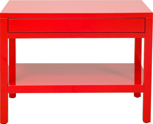 20-80 red lacquer end table contemporary side tables and accent tables